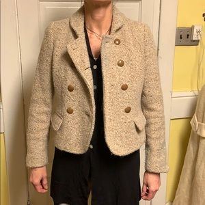 Like New J. Crew Lined Thick Wool Button Up Blazer